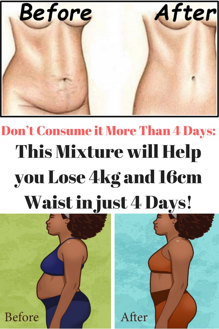 Don't Consume it More Than 4 Days: This Mixture will Help you Lose 4kg and 16cm Waist in just 4 Days!