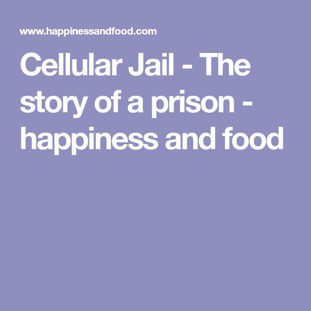Cellular Jail - The story of a prison - happiness and food