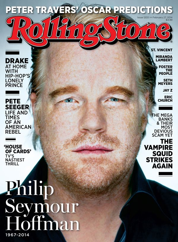 Phillip Seymour Hoffman on the cover of Rolling Stone.