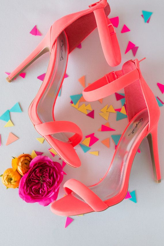 Neon Coral Wedding Shoes Coral Wedding Shoes