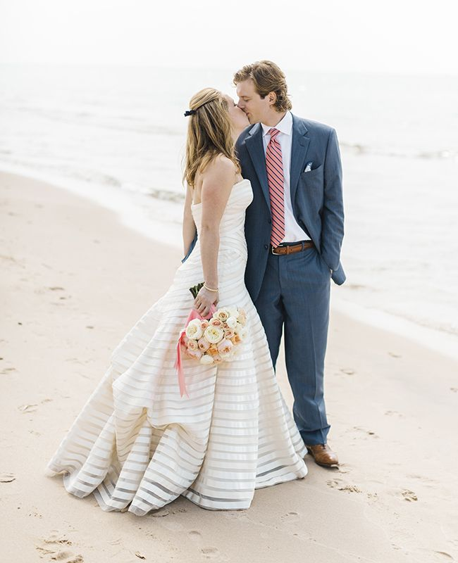 Beach Wedding Portrait | Harrison Studio | blog.theknot.com