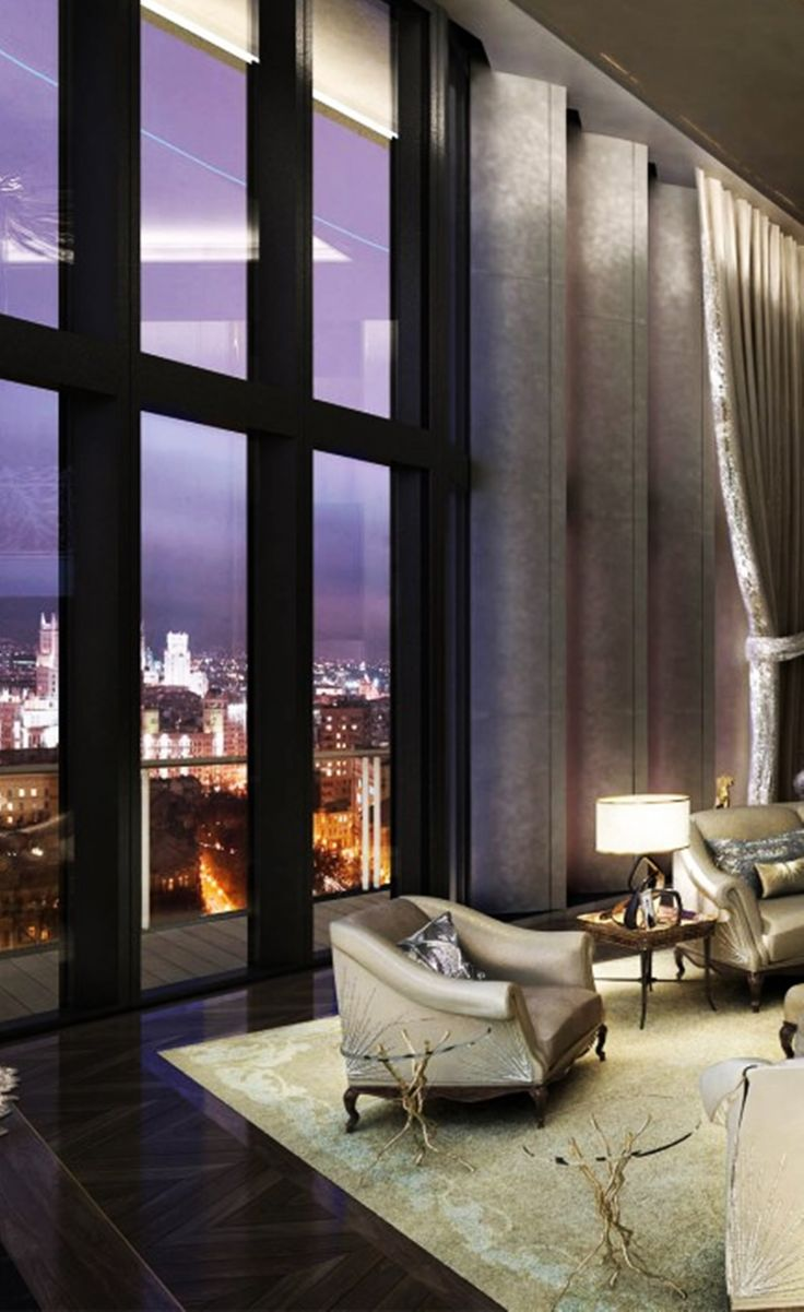 Best 25 luxury penthouse ideas on pinterest - Luxury living room interior design ...