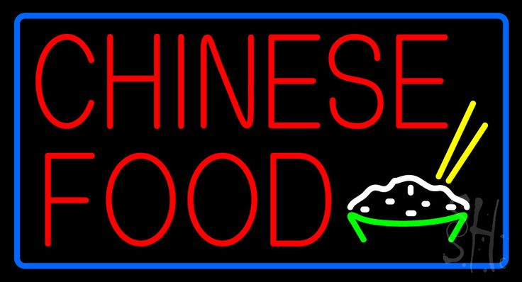 Chinese Food Neon Sign 20 Tall x 37 Wide x 3 Deep, is 100% Handcrafted with Real Glass Tube Neon Sign. !!! Made in USA !!!  Colors on the sign are White, Blue, Red, Yellow and Green. Chinese Food Neon Sign is high impact, eye catching, real glass tube neon sign. This characteristic glow can attract customers like nothing else, virtually burning your identity into the minds of potential and future customers.