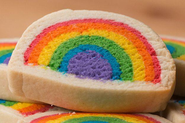 Slice & Bake Rainbow Cookies