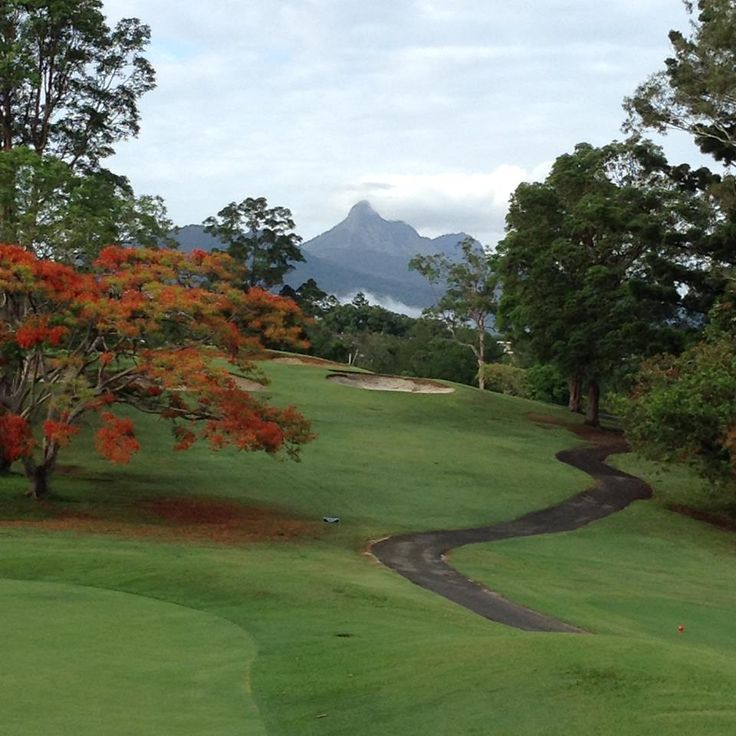 Mt Warning from Murwillumbah  Golf Course NSW (1)