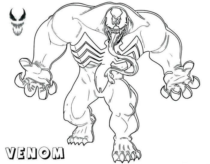 Agent Venom Coloring Pages Cartoon Coloring Pages Coloring Pages Spiderman Coloring