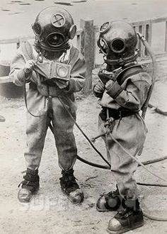 old fashioned scuba suit - Google Search