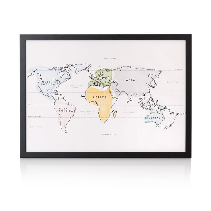 Buy the Continuous Continents Wall Art A2 at Oliver Bonas. Enjoy free UK standard delivery for orders over £50.