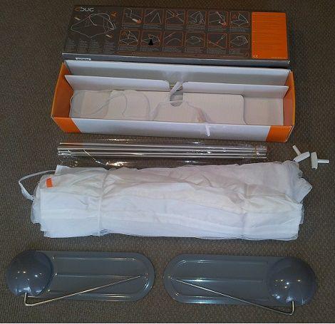 Klamboe boven bed,dbug,design,tentstokken,doek,3 kgr. reis,vakantie,geen mug, muskietengaas    1- of 2- persoonsklamboe , de DBug staat in een handomdraai en is desgewenst net zo gemakkelijk weer uit elkaar te halen om op te bergen of mee te nemen op reis.  Verkrijgbaar bij :  Slaapkenner Theo Bot   Dorpsstraat 162  1689GG Zwaag  www.theobot.nl  info@theobot.nl