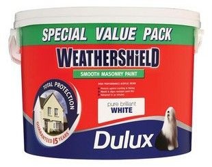 Cahir, Gort & Oranmore branches only    Dulux Weathershield Smooth Masonry Paint    White 7.5L...    € 24.19 Exc VAT / € 29.75 Inc VAT    For more info Visit:  http://www.jpcorry.com/price-hammer