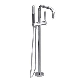$713 Kohler K-10129-4 Purist line (or $614 at homeperfect.com): Purist Floors Mount, Purist Floormount, Kohler Purist, Floormount Bath, Master Bath, Floors Mount Bath, Bath Fillers, Polish Chrome, Tubs Faucets