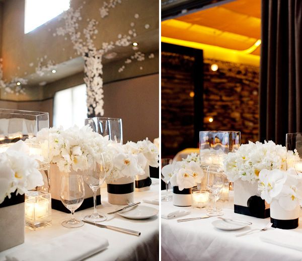 Formal Black & White party - great for engagements or anniversaries