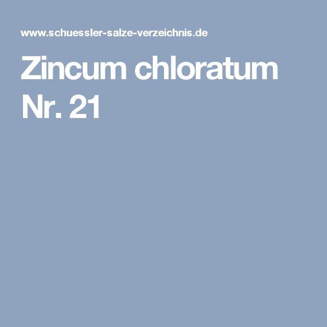Zincum chloratum Nr. 21