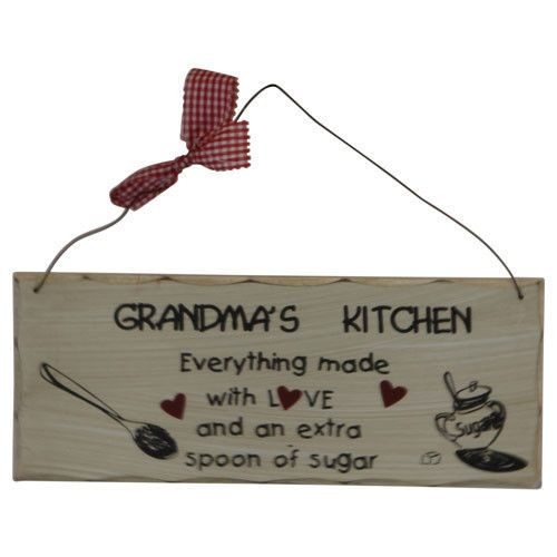 Grandma's Kitchen Baking Quote Wood Sign Plaque - Home Wall Decor - Gift for Her  www.NeatandNiceMerchandise.com