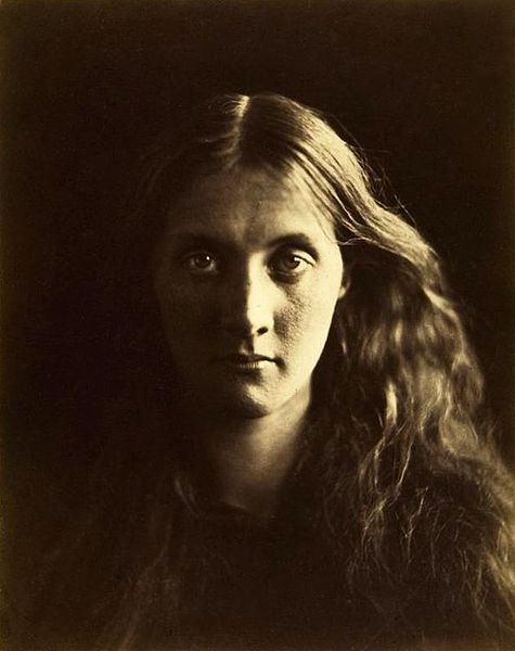 Photographic portrait of Julia Stephen, Virginia's mother, photograph taken by Julia Margaret Cameron.