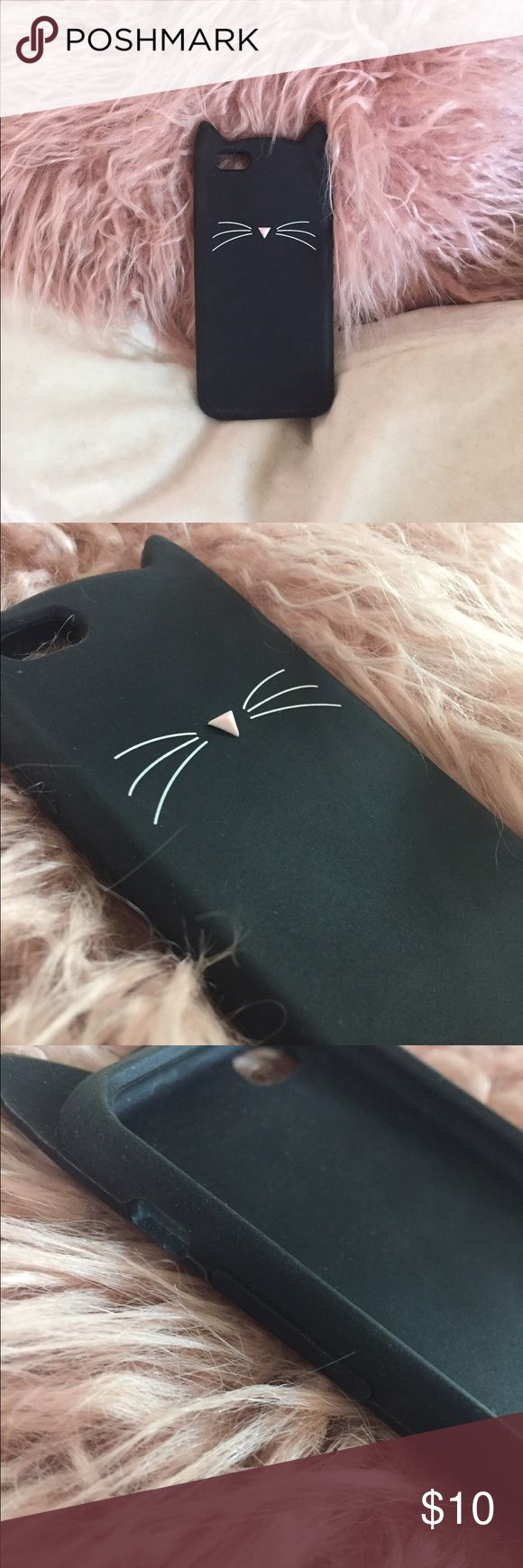 Cat Ear iPhone 6/6S Case!! Super cute iPhone 6/6S phone case in the shape of a cat (meow) • made of a rubber material • adorable and not very bulky Accessories Phone Cases