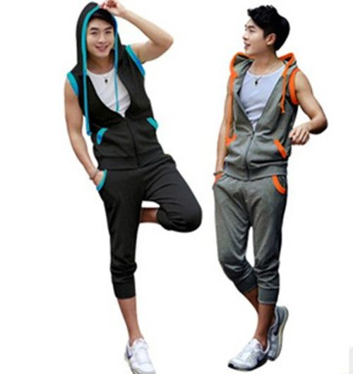 new men s fashion sports wear for men gym suits hooded