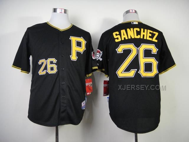 http://www.xjersey.com/pirates-26-sanchez-black-cool-base-jerseys.html PIRATES 26 SANCHEZ BLACK COOL BASE JERSEYS Only $34.00 , Free Shipping!