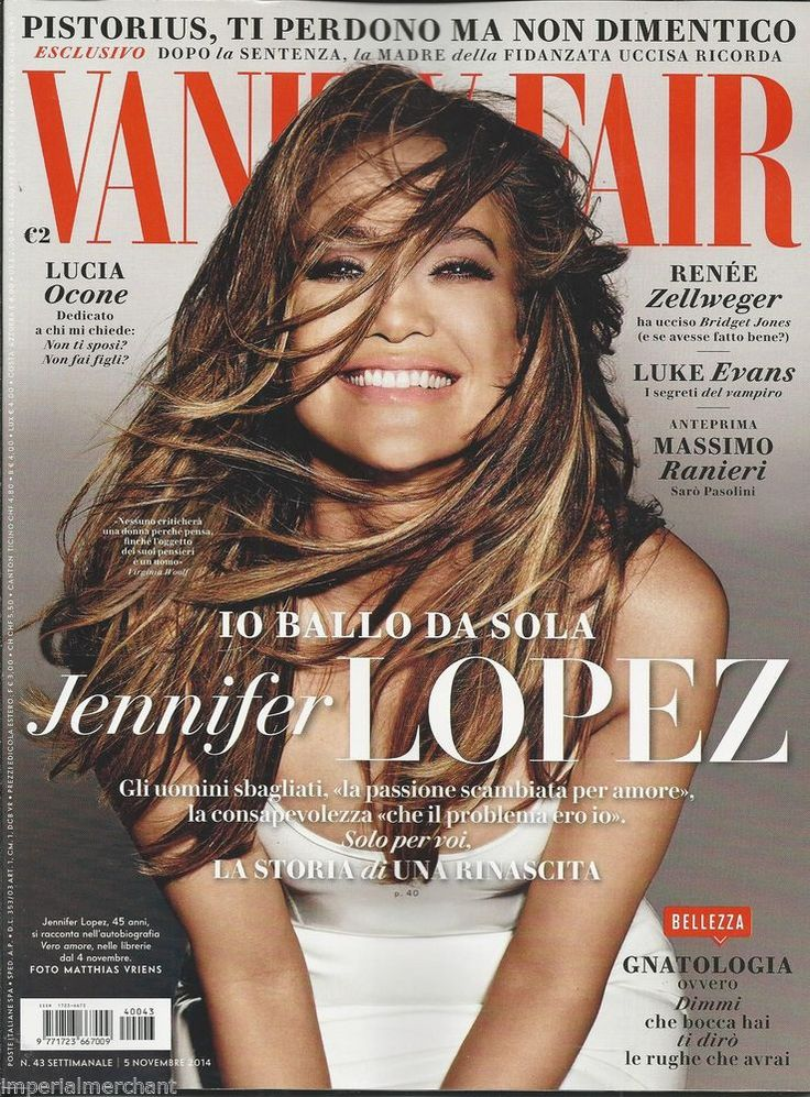 Jennifer Lopez in Italian Vanity Fair magazine