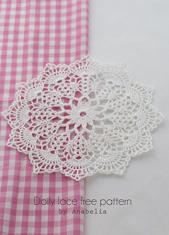Crochet doily with pattern