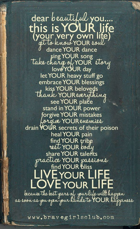 This is your life. Love this!