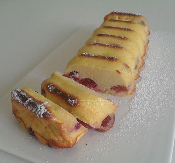 Cake semoule fromage blanc et cerises