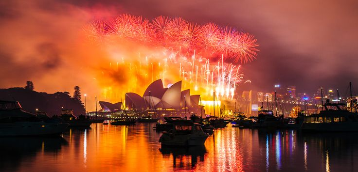 The best view of the Sydney New Years Eve fireworks is from the ticketed parties in the Royal Botanic Garden, facing the Opera House and Harbour Bridge.