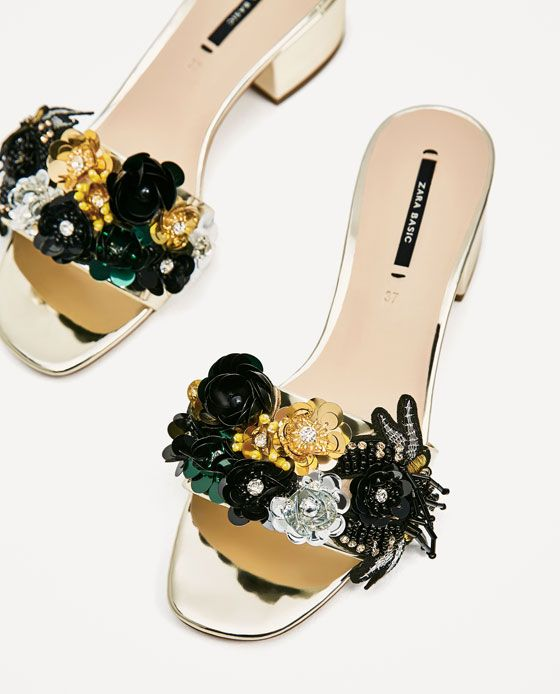 Image 4 of BEADED VAMP AND HEEL SANDALS from Zara