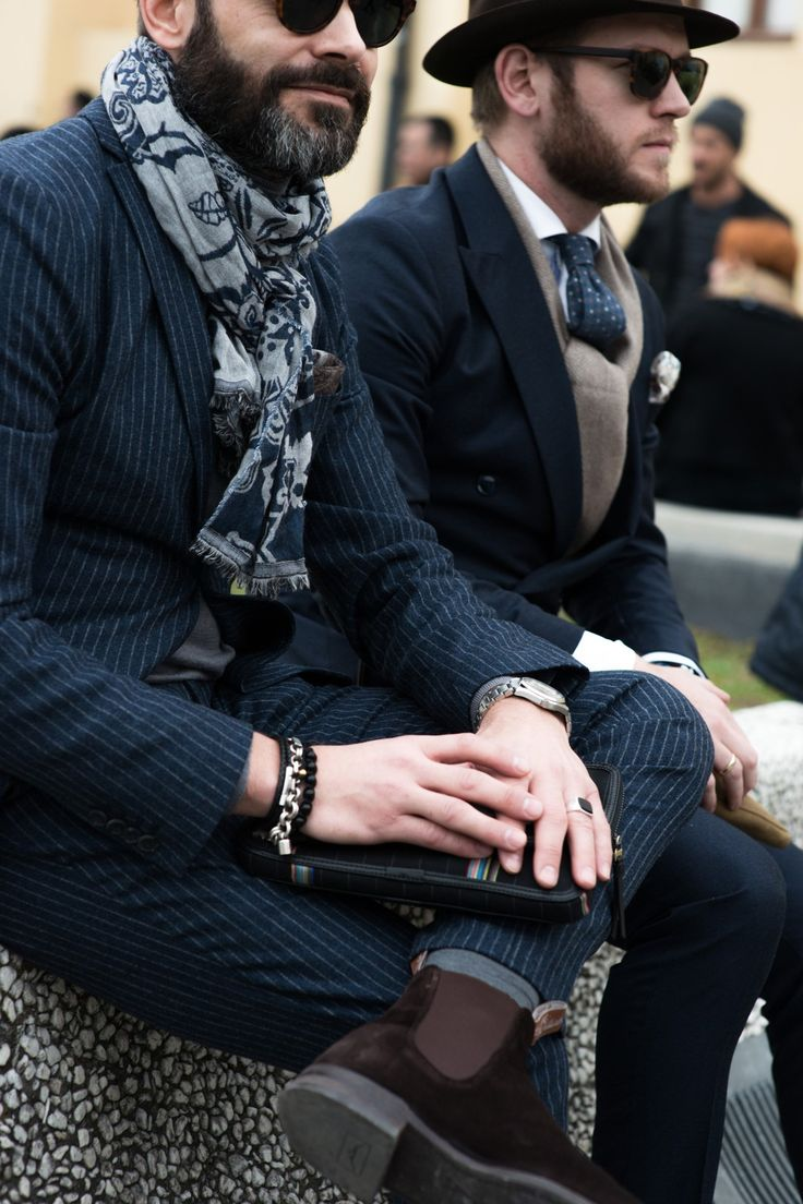 """its all about the accessories. """"Street style from Pitti Uomo A/W '15 - GQ.co.uk"""""""
