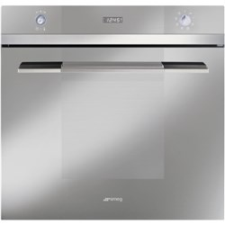 Smeg SC107SG-8 Linea Multifunction Electric Built In Single Oven - Silver Glass - 2 Only To Clear