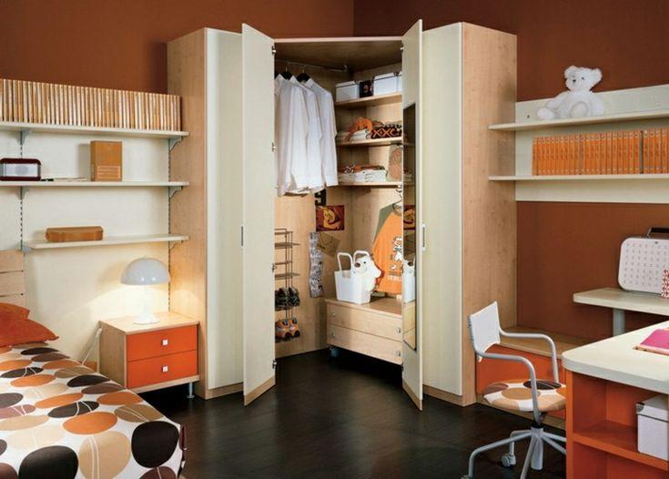 dormitorio para adolescentes en beige para los muebles