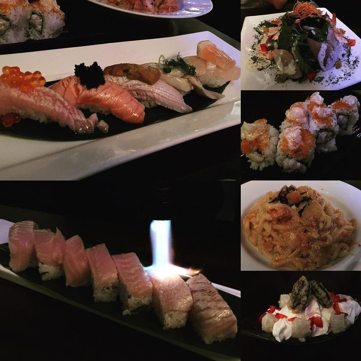Sashimi salad aburi sashimi toro inferno chopped scallop roll mentaiko yakiudon with combo and tempura fried Oreo with mochi and vanilla ice cream. Very satisfying dinner. #sushi #japanese #japanesefood #aburi #toro #sashimi #vancouver #canada #pnw #pacificnorthwest #globetrotter #livetotravel #wanderlust #mladventures2016 #ebisu by giancarlo51