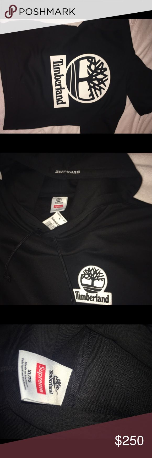 Supreme X Timberland hoodie Brand new never worn. Black xl supreme timberland collaboration. Very thick! Heavy fitting hoodie! Super high quality. - comes with bag, receipt and sticker! Supreme Sweaters