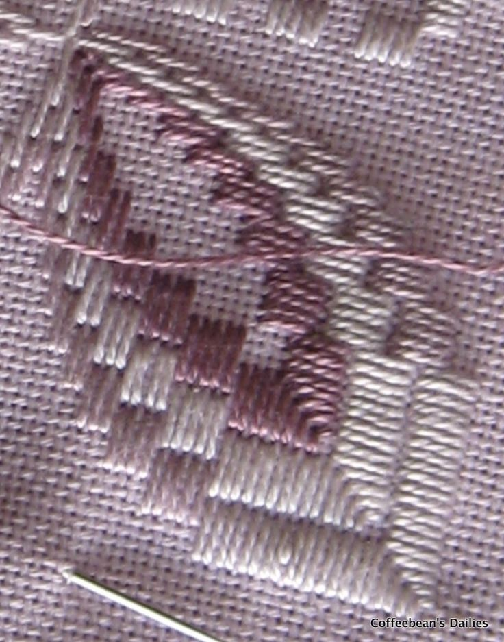 Coffeebean's Dailies: Hardanger Bargello Table Runner Progress...Close-up