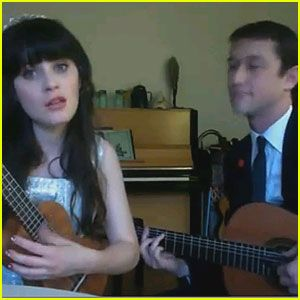 Zooey Deschanel and Joseph Gordon-Levitt (hotty hottness) wishing everyone a happy new year!!