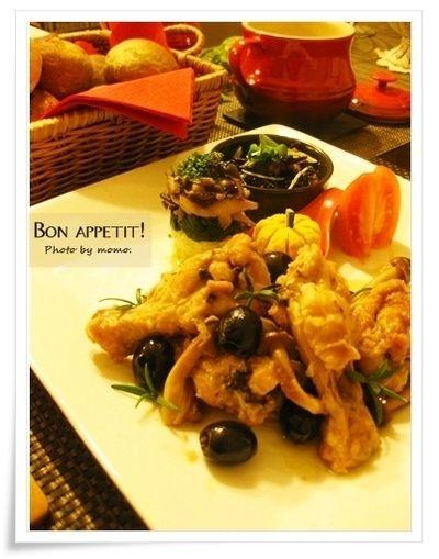 チキンカチャトーラと牡蠣のチャウダー、焼きたてパンでプチディナー(レシピ