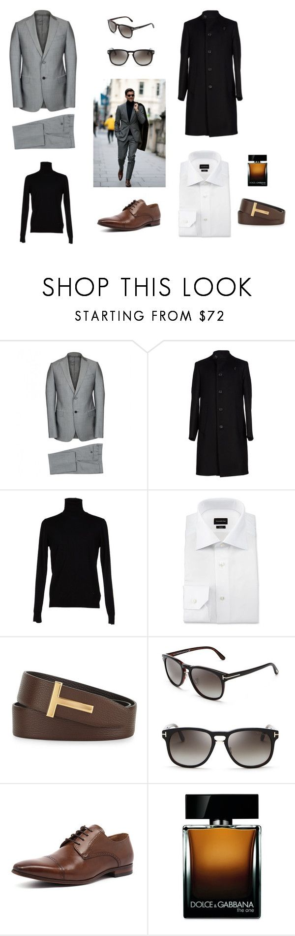 """Autaumn in London"" by dpintainha on Polyvore featuring Armani Collezioni, Ermenegildo Zegna, Tom Ford, Florsheim, Dolce&Gabbana, men's fashion and menswear"