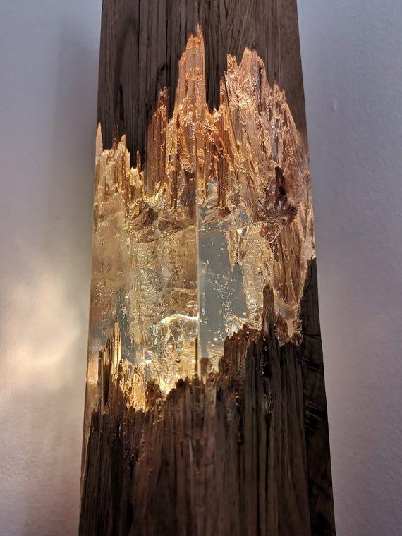 Epoxy-Holz-Lampe, Lampe, Harz Tischdekoration, einzigartige Nachtlicht, Dekor Licht