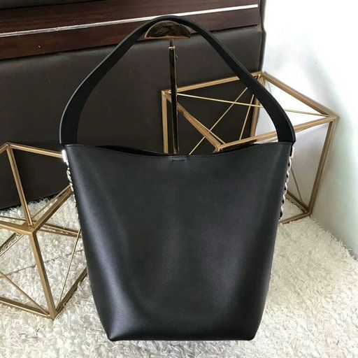2017 Pre-Fall Givenchy Infinity Bucket Bag in Black Nappa Leather ... a5bc2261d9b91