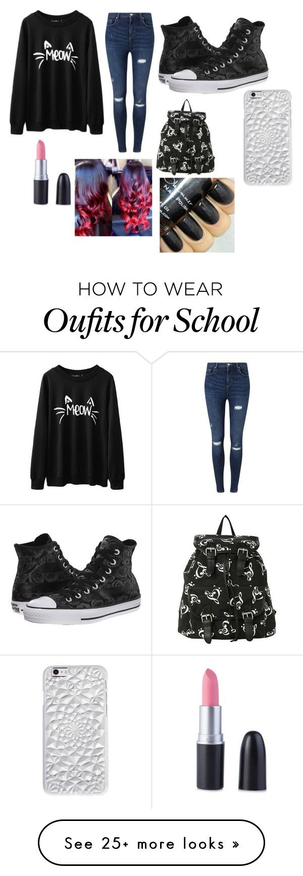 School Outfit//Thrusday by queenhalie on Polyvore featuring Miss Selfridge, Converse, Felony Case, womens clothing, women, female, woman, misses, juniors and SchoolOufits - NIKE Women's Shoes - http://amzn.to/2hIkcr5