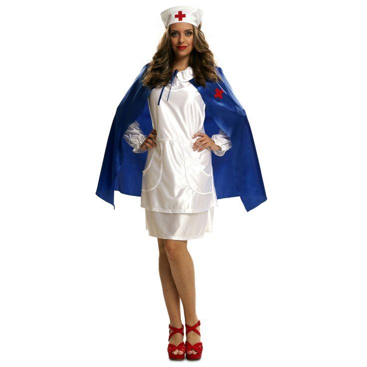 Costume Infirmière Cape Bleue #déguisementsadultes #costumespouradultes