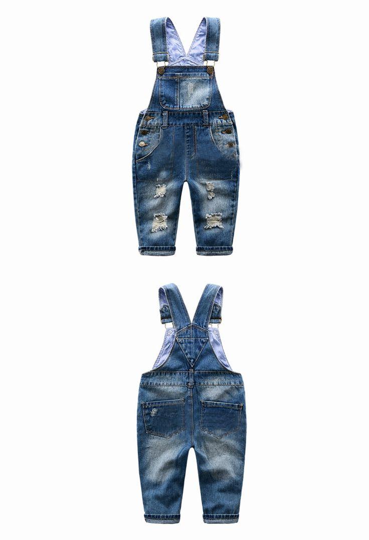 Nice Baby Pants Boys Girls 2016 New Arrival Trouser Jeans Denim Jumpsuit Overoles Kids Autumn Winter Hole Jeans Jumpsuits Clothes - $39.84 - Buy it Now!