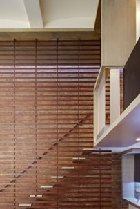 wood lattice for stair wall