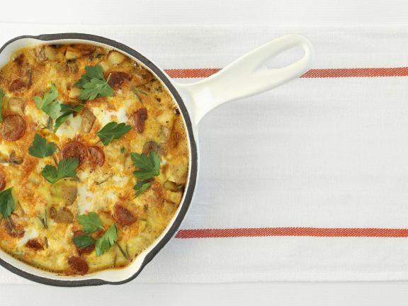 Kartoffel-Frittata mit Chorizo ist ein Rezept mit frischen Zutaten aus der Kategorie Wurzelgemüse. Probieren Sie dieses und weitere Rezepte von EAT SMARTER!