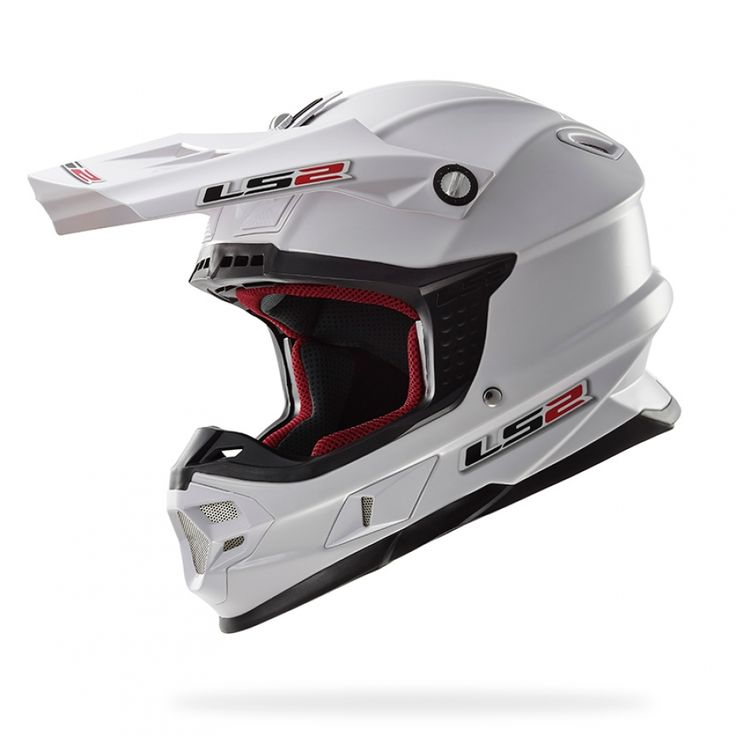 Casco cross/enduro LS2 Helmets MX456 LIGHT SOLID White