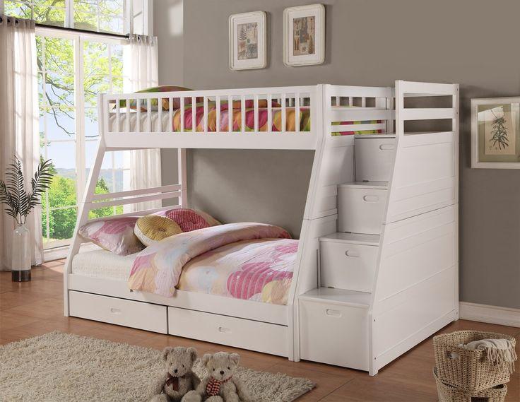 dakota twin over full bunk bed with storage - Hausgemachte Etagenbetten Fr Mdchen