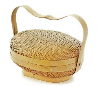 JP00 Antique Japanese Miniature Basket