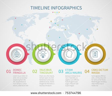 Stock Vector: Business chart timeline with process steps. Vector progress flow diagram infographics template. Progress step diagram graph, workflow infographic illustration -