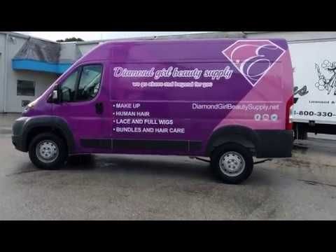 New Ram Promaster Commercial Wrap Advertising by Car Wrap Solutions