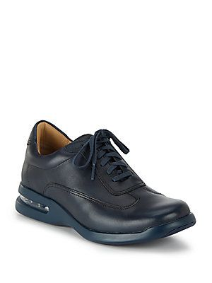 Cole Haan Air Conner Leather Sneakers - Blazer Blue - Size